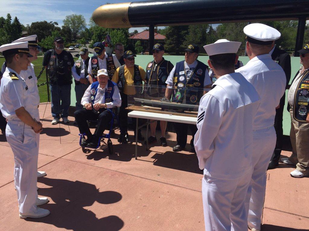 USS Colorado submarine Sailors honor veterans