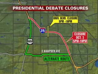How to get around debate road closures