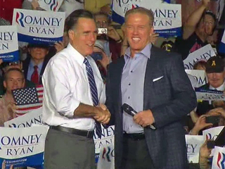 John Elway introduces Mitt Romney