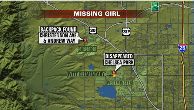 Ridgeway Colorado Map.Jessica Ridgeway Amber Alert Update 2 Simultaneous Searches Now