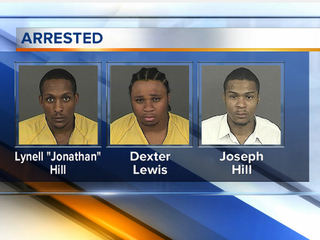 suspects in Fero bar shooting - Dexter Lewis, Lynell Hill and Joseph Hill.