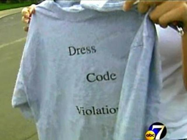 ... dress code wear special t-shirts. Some students and parents disagree