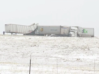 Pileup on I-70 near Agate