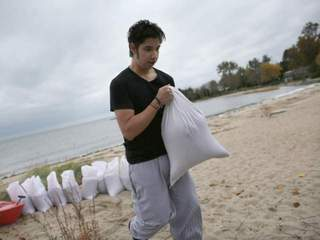 Filling sandbags for Hurricane Sandy-10946