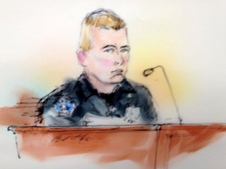 Officer Jason Oviatt testifies during James Holmes' preliminary hearing-10946