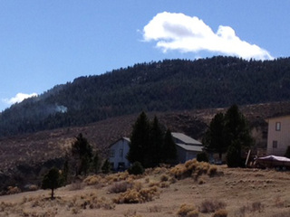 Homes near the Galena Fire