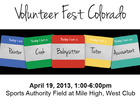 Volunteer Fest Colorado 4/19/13 1-6pm