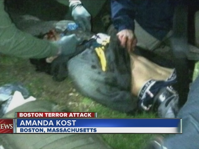 Boston bombing suspect unable to talk due to neck injury
