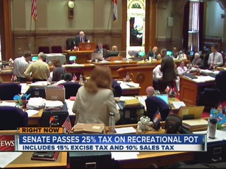Senate passes 25% tax on recreational marijuana