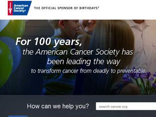 American Cancer Society hits 100