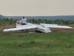 Small plane flips at Centennial Airport