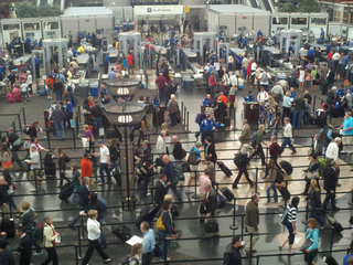 Expect longer security lines at DIA this week