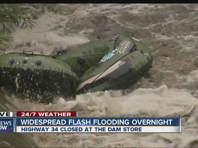 Effort to control flooding near Big Thompson River