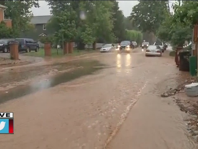 Flooding in Boulder - Broadway and Elder
