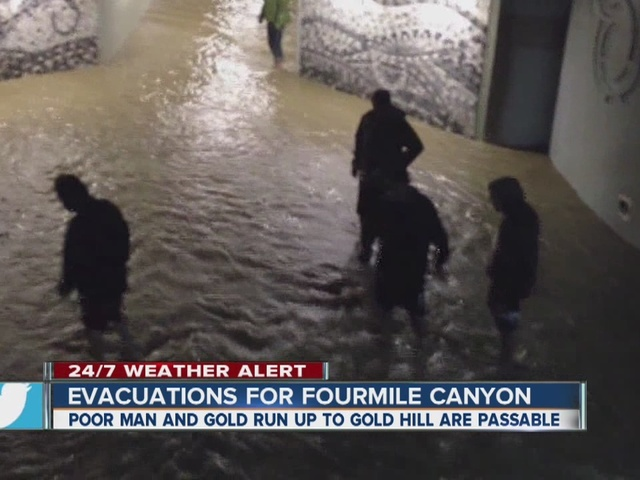 Flooding in Boulder, near CU