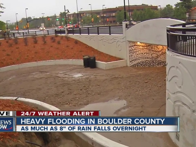 Heavy flooding in Boulder