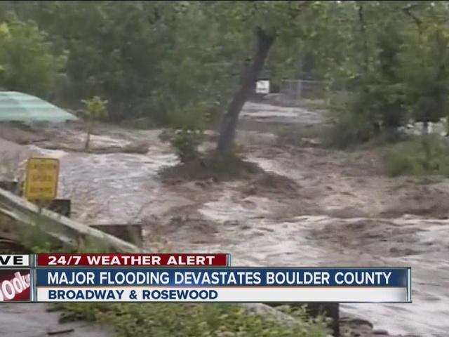 Massive flooding devastates Boulder County
