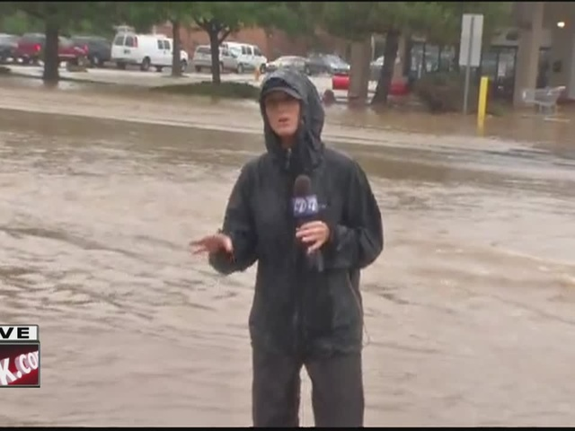 Widespread flooding in Aurora