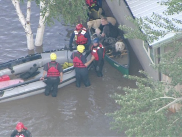Raw video: Rescue operations south of Greeley