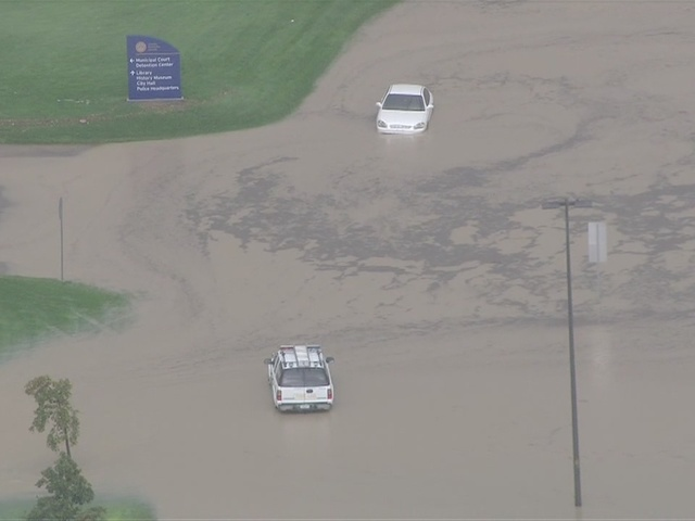 Saturday afternoon flooding in Aurora
