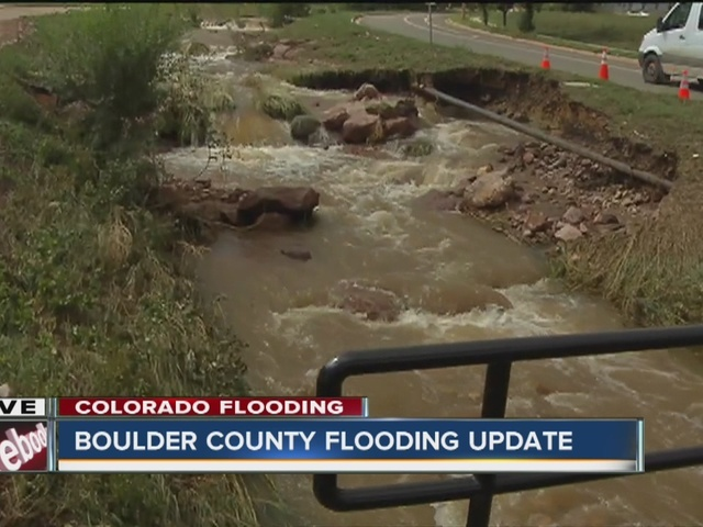 Saturday morning Boulder County flooding update