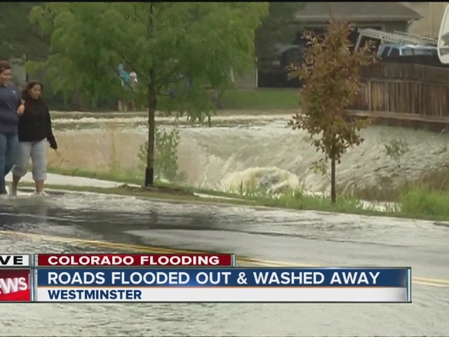 Roads flooded, washed away in Westminster after Sunday rain, hail