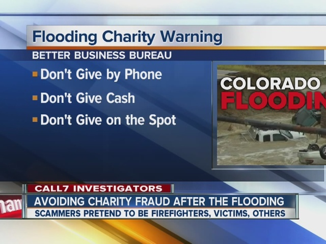 Avoiding charity fraud after the flooding in Colorado