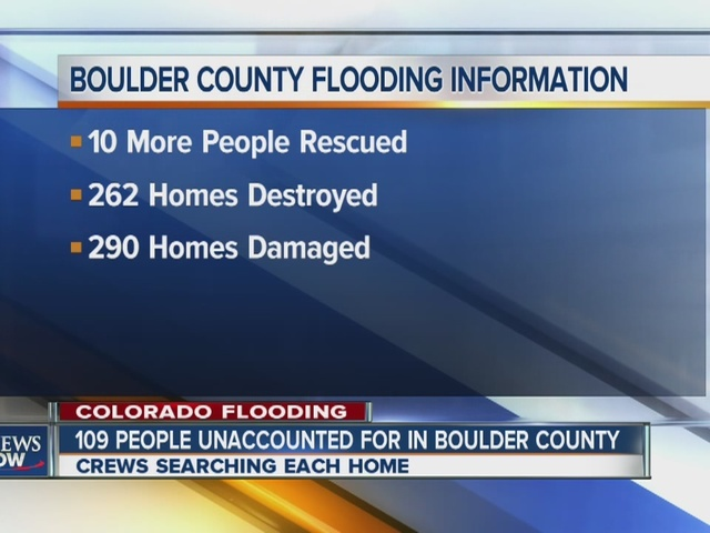 Boulder County flooding damage