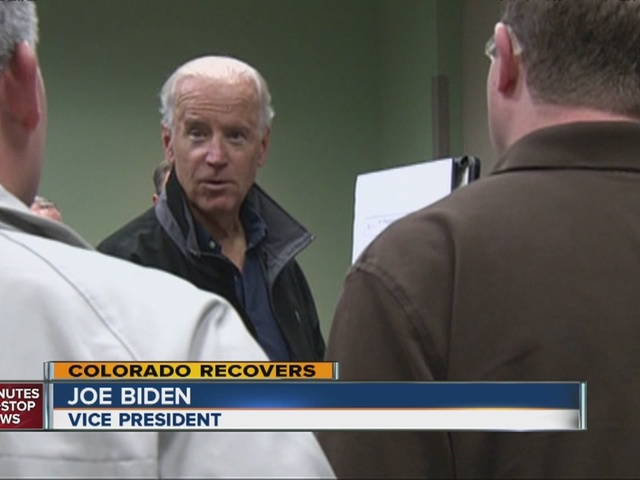Vice President Biden tours flood area