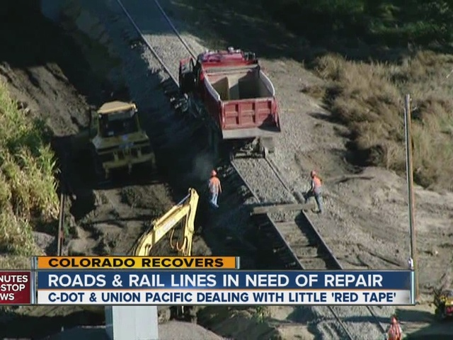 Road versus railroad repairs after flood