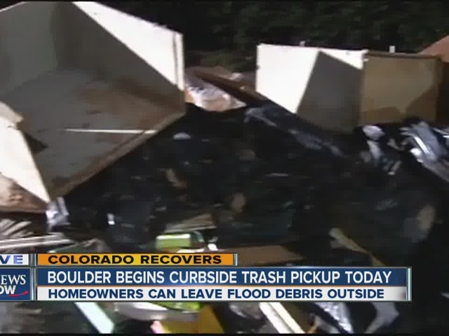 Curbside pickup of flood debris begins in Boulder