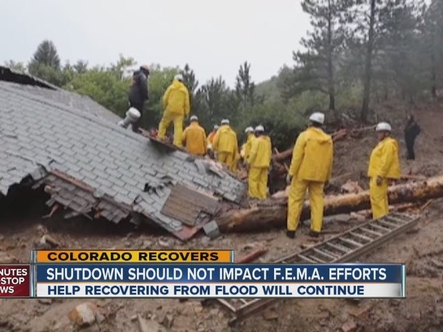 FEMA: Colorado flood recovery continues despite shutdown