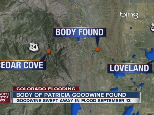 Flood victim's remains identified