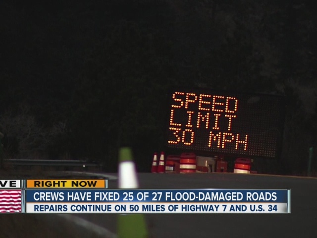 Flood damaged Highway 72 reopens