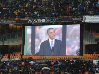 Obama honors Nelson Mandela at memorial