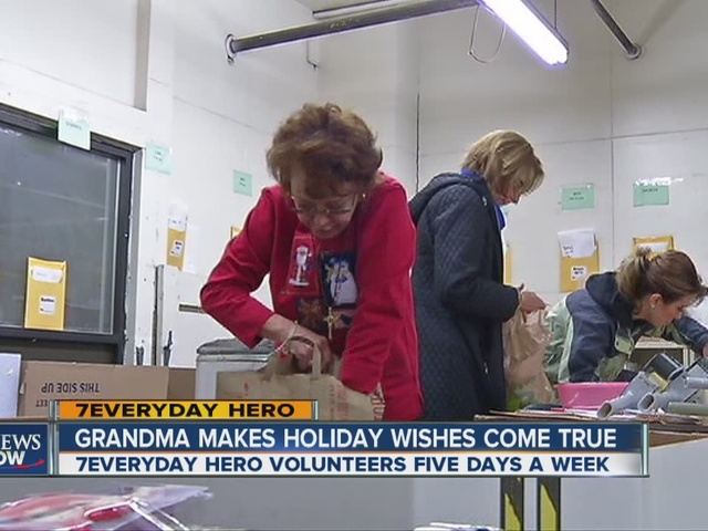 volunteer works 5 days a week to make sure families get a