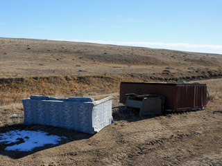 hot tub and couch dumped on pawnee grasslands
