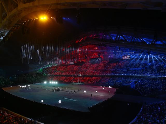 2014 Sochi Winter Olympics Closing Ceremony at Fisht Olympic Stadium