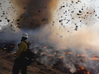 WATCH: Dust devil, fire combine to form Firenado