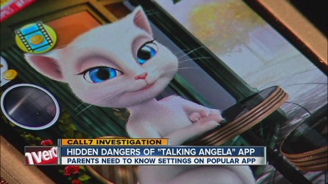 Talking Angela App 'talking angela' app is a
