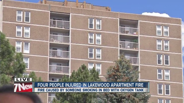 Firefighter hurt in 3-alarm fire at high rise
