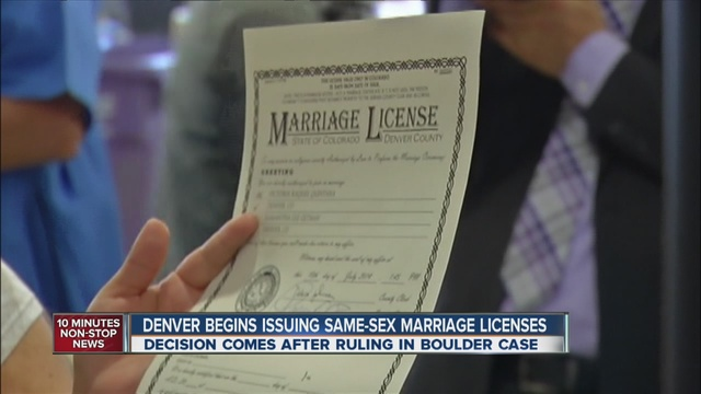 what same sex marriage in Denver