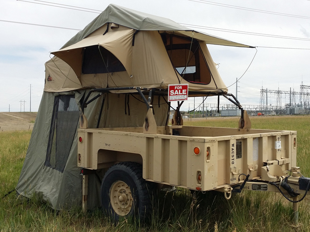 Retired Air Force major creates tent trailer to help ...