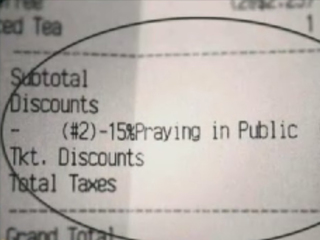 Diner offers 15% off to people who pray publicly
