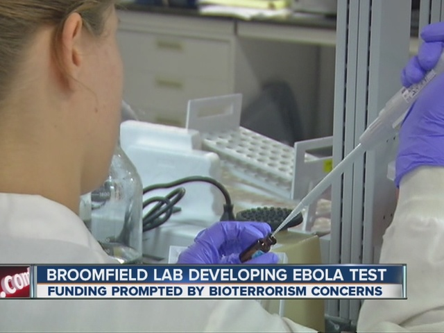 Broomfield lab developing Ebola test