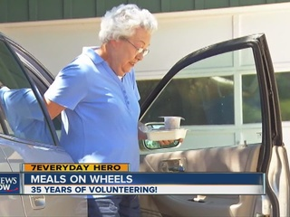 Volunteer delivers thousands of meals every week