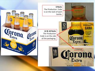Corona issues beer recall over glass particles