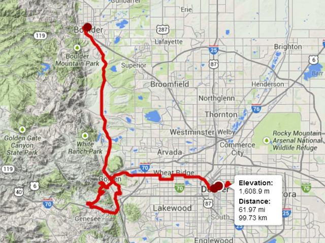 Us Pro Challenge Denver Map