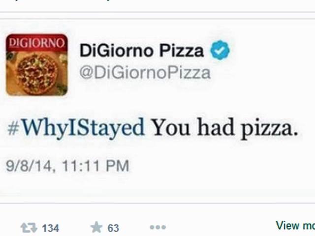 DiGiorno Pizza tweet using #WhyIStayed leaves company apologizing ...