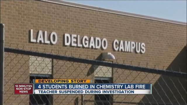 Chemistry lab fire at Strive Prep school sends 4 students ...